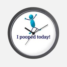 I pooped today! Wall Clock