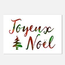joyeux noel Postcards (Package of 8)