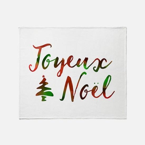 joyeux noel Throw Blanket