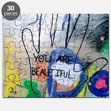 You Are Beautiful Graffiti Puzzle