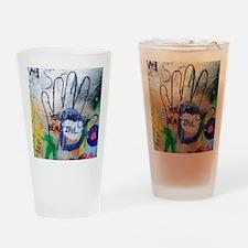 You Are Beautiful Graffiti Drinking Glass