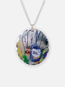 You Are Beautiful Graffiti Necklace