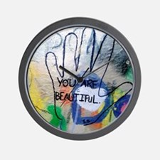 You Are Beautiful Graffiti Wall Clock