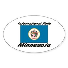 International Falls Minnesota Oval Decal
