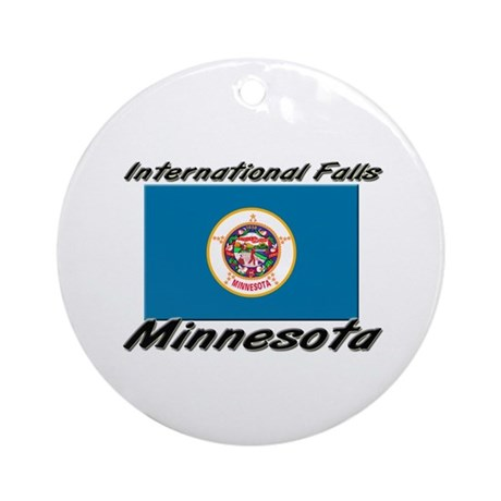 International Falls Minnesota Ornament (Round)
