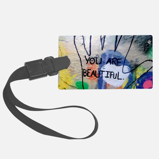 You Are Beautiful Graffiti Luggage Tag
