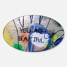You Are Beautiful Graffiti Decal