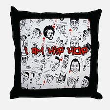 hiphopcards Throw Pillow