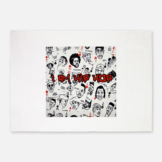 hiphopcards 5'x7'Area Rug