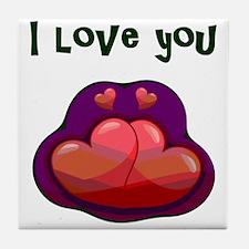 I love you Tile Coaster