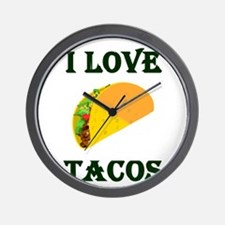 I LOVE TACOS Wall Clock