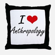 I Love Anthropology artistic design Throw Pillow