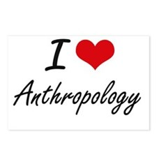 I Love Anthropology artis Postcards (Package of 8)