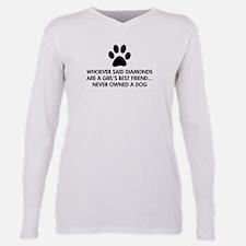 Girls Best Friend Dog Plus Size Long Sleeve Tee