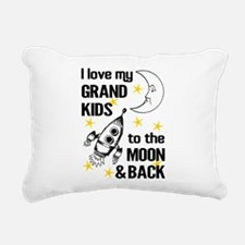 I Love My Grand Kids To Rectangular Canvas Pillow