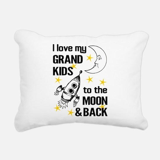I Love My Grand Kids To Rectangular Canvas Pillow