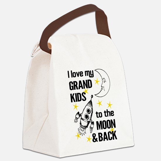 I Love My Grand Kids To The Moon Canvas Lunch Bag
