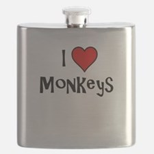 I Love Monkeys Flask