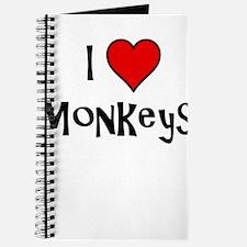I Love Monkeys Journal