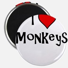 I Love Monkeys Magnets