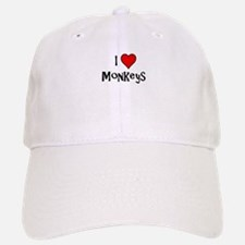 I Love Monkeys Baseball Baseball Cap
