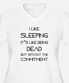 I Like Sleeping Plus Size T-Shirt