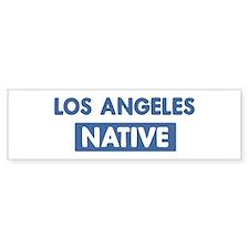LOS ANGELES native Bumper Bumper Sticker