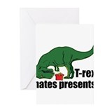 T rex christmas Greeting Cards (20 Pack)