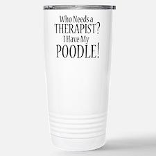 Unique Poodle Travel Mug