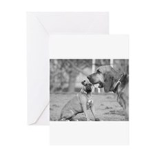 Boxer and Bloodhound Greeting Cards