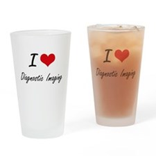 I Love Diagnostic Imaging artistic Drinking Glass
