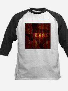 TEXAS red gold vertical Baseball Jersey