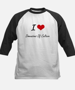 I Love Dimensions Of Culture artis Baseball Jersey