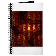 TEXAS red gold vertical Journal