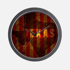 TEXAS red gold vertical Wall Clock