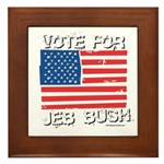 Vote for Jeb Bush Framed Tile