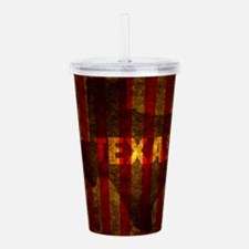 TEXAS red gold vertica Acrylic Double-wall Tumbler