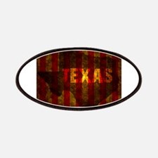 TEXAS red gold vertical Patch