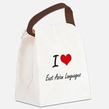 I Love East Asian Languages artis Canvas Lunch Bag