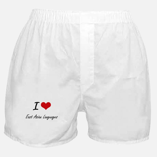 I Love East Asian Languages artistic Boxer Shorts