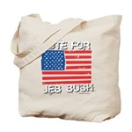 Vote for Jeb Bush Tote Bag