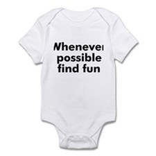 Whenever possible find fun Onesie