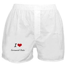 I Love Environmental Studies artistic Boxer Shorts