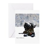 Scottie christmas Greeting Cards (20 Pack)