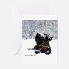 Cute Scottish terrier christmas Greeting Cards (Pk of 20)