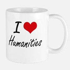 I Love Humanities artistic design Mugs