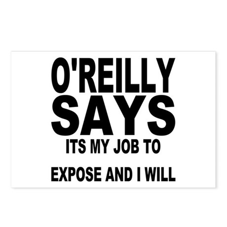 ITS MY JOB TO EXPOSE AND I WILL Postcards (Package