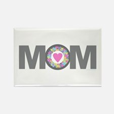 MOM - Charcoal Pink Magnets