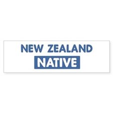 NEW ZEALAND native Bumper Bumper Sticker
