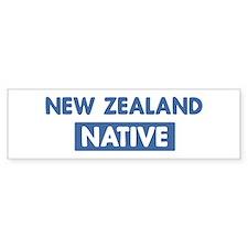 NEW ZEALAND native Bumper Car Sticker